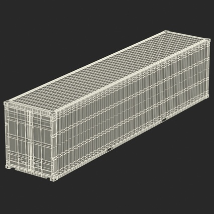 40 ft High Cube Container Green. Render 42