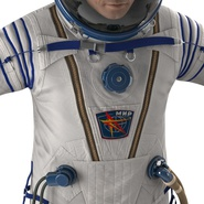 Russian Astronaut Wearing Space Suit Sokol KV2 Rigged for Maya. Preview 35
