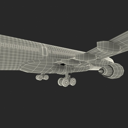 Jet Airliner Airbus A330-300 Emirates Rigged. Render 64