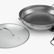 Round Electric Skillet. Preview 6