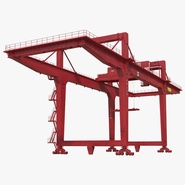 Rail Mounted Gantry Container Crane Red