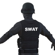 SWAT Man Mediterranean Rigged for Cinema 4D. Preview 25