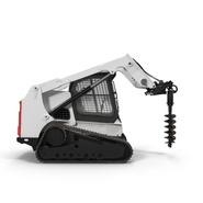 Compact Tracked Loader with Auger. Preview 3
