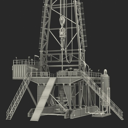 Fracking Gas Platform. Render 47
