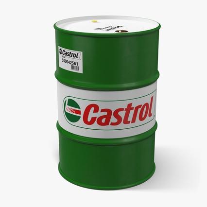 Steel barrel drum oil castrol 3d model for Motor oil by the barrel