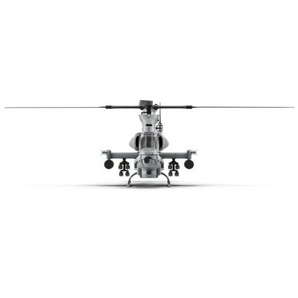 Attack Helicopter Bell AH 1Z Viper Rigged. Render 27