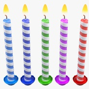 Birthday Candles with Flame Set. Preview 6