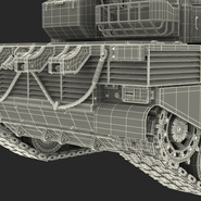 French Army Tank AMX-56 Leclerc Rigged. Preview 32