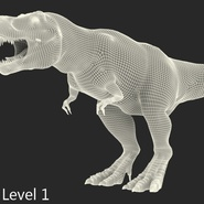 Tyrannosaurus Rex Rigged for Maya. Preview 29