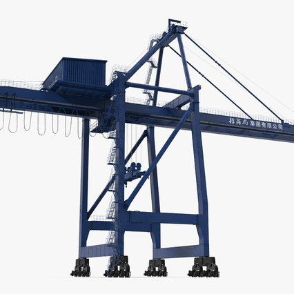 Container Crane Blue. Render 6