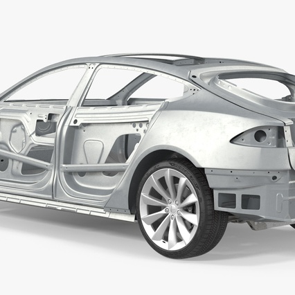 Tesla Model S Frame and Chassis. Render 15