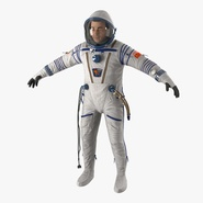 Russian Astronaut Wearing Space Suit Sokol KV2