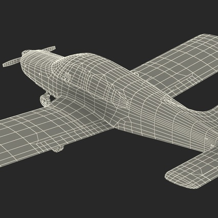 Piper PA-28-161 Cherokee Rigged. Render 31