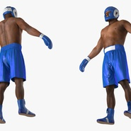 African American Boxer Rigged for Cinema 4D. Preview 13
