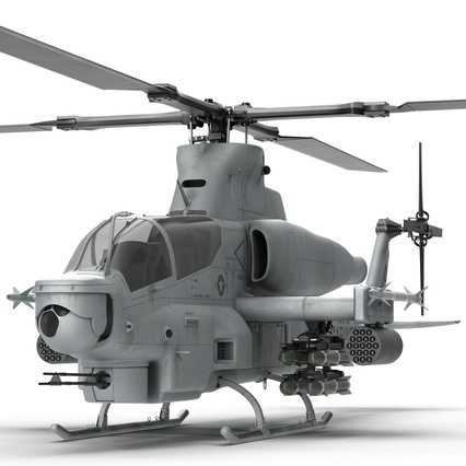 Attack Helicopter Bell AH 1Z Viper Rigged. Render 35