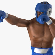 African American Boxer Rigged for Cinema 4D. Preview 18
