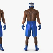 African American Boxer Rigged for Cinema 4D. Preview 6