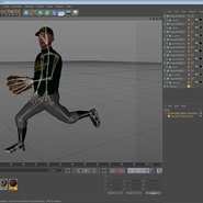 Baseball Player Rigged Athletics for Cinema 4D. Preview 20