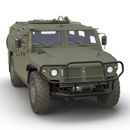 Russian Mobility Vehicle GAZ Tigr M Rigged. Preview 17