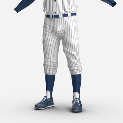 Baseball Player Outfit Generic 8. Render 17
