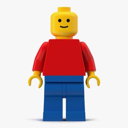 Classic lego man 3d model for Modele maison lego classic