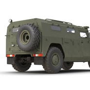 Russian Mobility Vehicle GAZ Tigr M Rigged. Preview 33