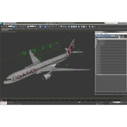 Jet Airliner Airbus A330-300 Qatar Rigged. Preview 55