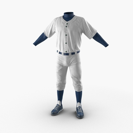 Baseball Player Outfit Generic 8. Render 3