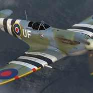 Royal Air Force Fighter Supermarine Spitfire LF Mk IX Rigged. Preview 9