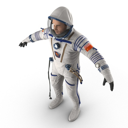 Russian Astronaut Wearing Space Suit Sokol KV2 Rigged for Maya. Render 20