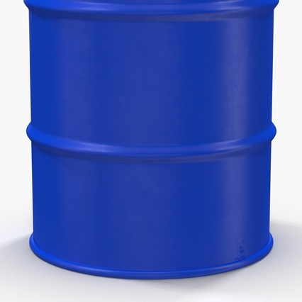 Oil Drum 200l Blue. Render 11