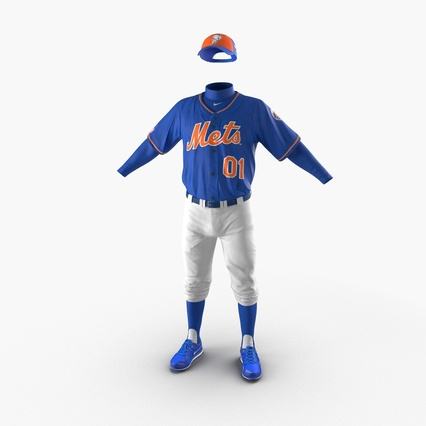 Baseball Player Outfit Mets 2. Render 3