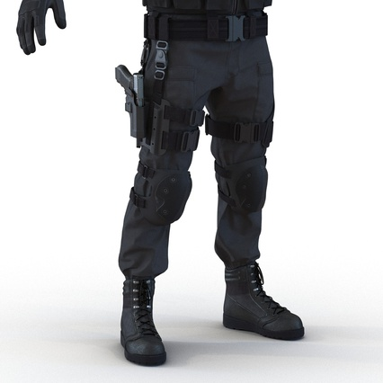 SWAT Man Mediterranean Rigged for Maya. Render 30