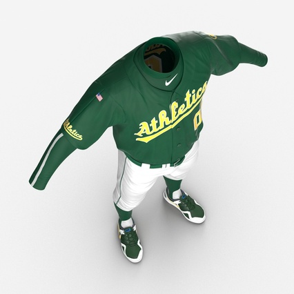 Baseball Player Outfit Athletics 3. Render 13