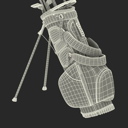 Golf Bag Seahawks with Clubs. Render 27