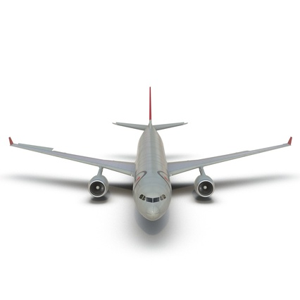 Jet Airliner Airbus A330-300 Northwest Airlines Rigged. Render 28