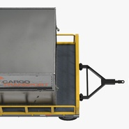 Airport Luggage Trolley Baggage Trailer with Container. Preview 16