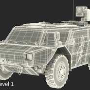 Fennek German Reconnaissance Vehicle Rigged. Preview 30
