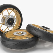 Sport Motorcycle Back Wheel. Preview 6