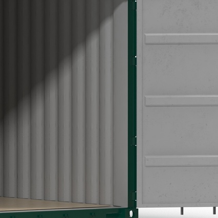 40 ft High Cube Container Green. Render 31