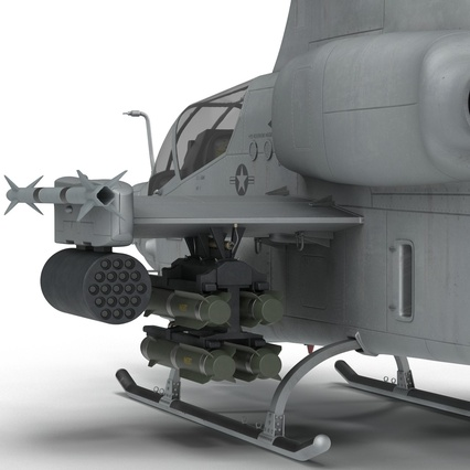Attack Helicopter Bell AH 1Z Viper Rigged. Render 58