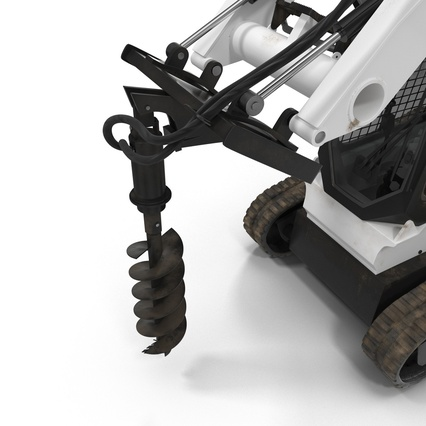 Compact Tracked Loader with Auger. Render 24