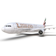 Jet Airliner Airbus A330-300 Emirates Rigged. Preview 38