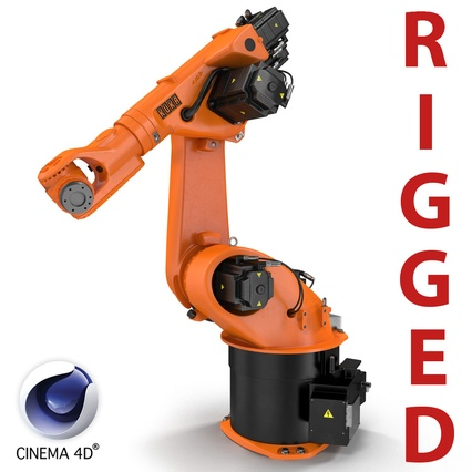 Kuka Robot KR 30-3 Rigged for C4D. Render 1