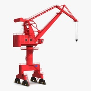 Level Luffing Port Crane Red