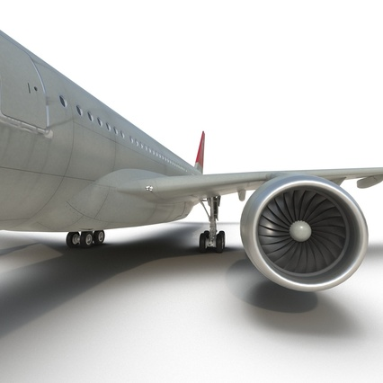 Jet Airliner Airbus A330-300 Northwest Airlines Rigged. Render 46