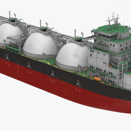 Gas Carrier Ship. Render 10