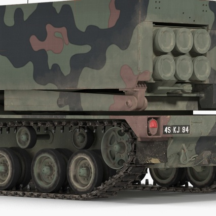 US Multiple Rocket Launcher M270 MLRS Camo. Render 18