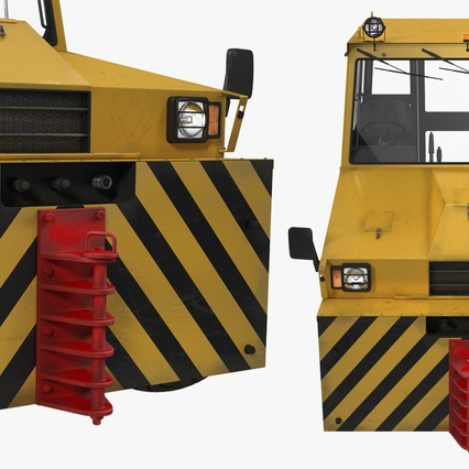 Push Back Tractor Hallam HE50 Rigged. Render 11