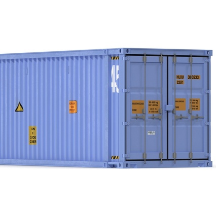 45 ft High Cube Container Blue. Render 18